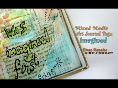 Mixed Media Art Journal Page: Imagined