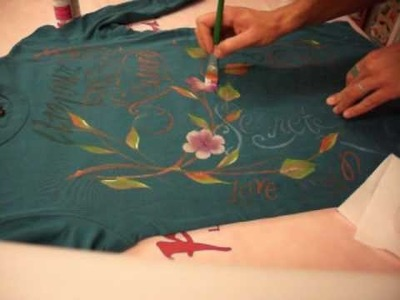 One Stroke Painting - Luca Sansone - Vintage Style on fabric