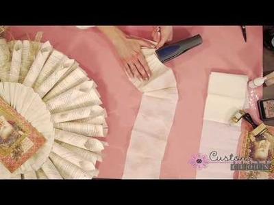 Paper Wreath Part 2 - Using Melissa France Crepe Paper