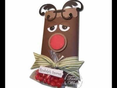 Rudolph Spares Candy Bar Gift featuring Stampin Up products