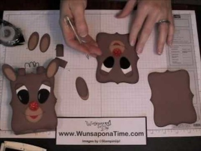 Stampin Up Rudolph the Red Nosed Reindeer Treat Box