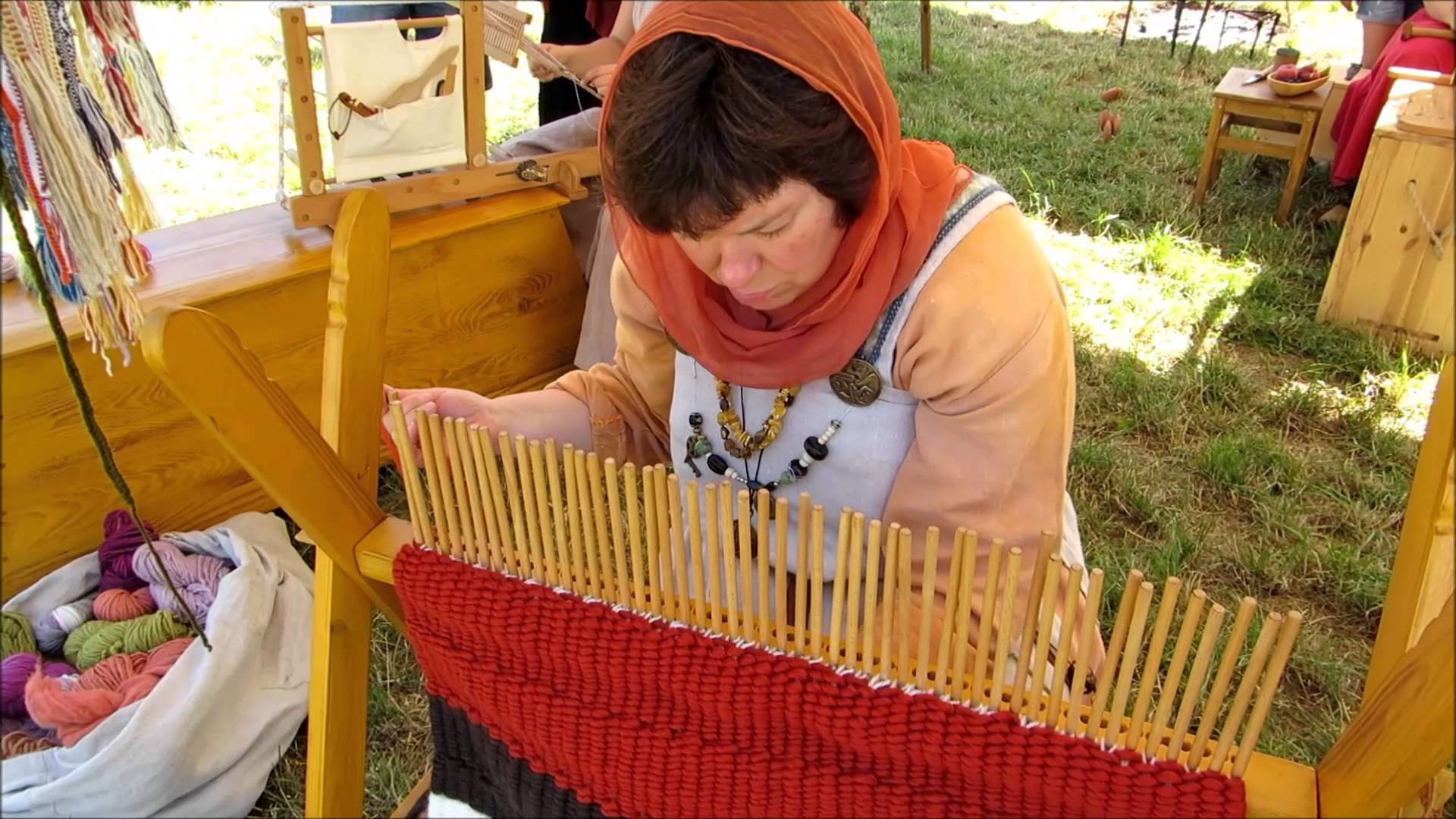 Stick Weaving - an experimental archaeology project