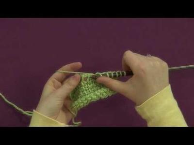 Tunisian Simple Stitch 2 Together Decrease