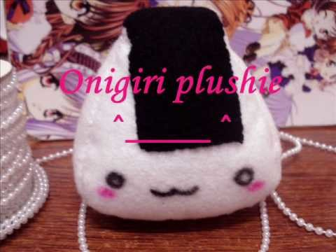 Tutorial: Felt Onigiri (Rice Ball) Keychain Plushie