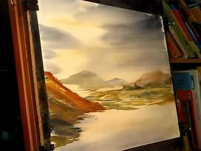 Watercolour Landscape Painting Tutorial - View to Crummock Water