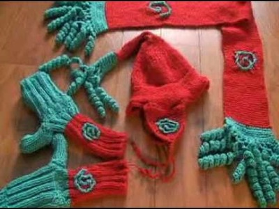 Wise Woman Hat Mitts Scarf Set