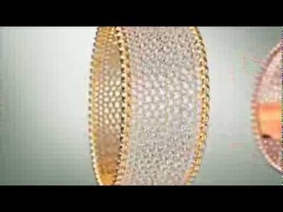 3D video of the Perlée cuff bracelet set in yellow gold and diamonds