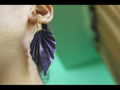 Elegant Leaf Earring made of magazine paper