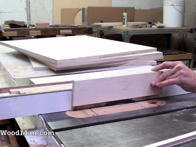 How To Make Plywood Boxes • 10 of 64 • Woodworking project for kitchen cabinets, desks, etc.