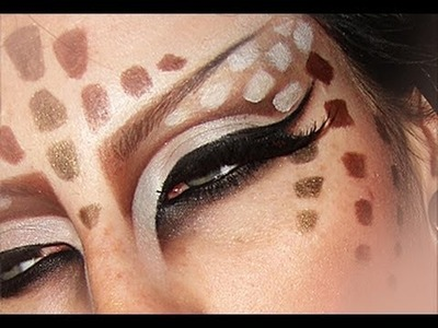 Katy Perry ET video make-up. The Fawn make up tutorial Alien Kabuki Deer Make-up Tutorial