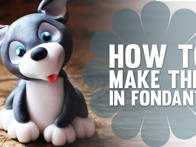 Learn How to Make a Cute Fondant Husky Puppy Dog - Cake Decorating Tutorial