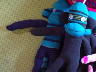 Raising money for roccos with sock monkeys