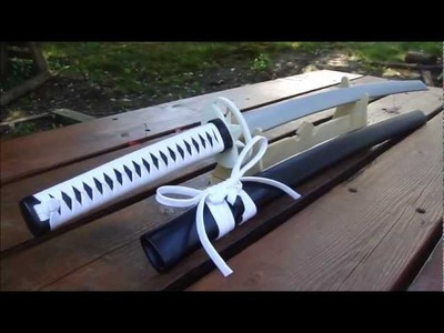 Wooden Katana Tutorial Part 22- White Tiger Katana