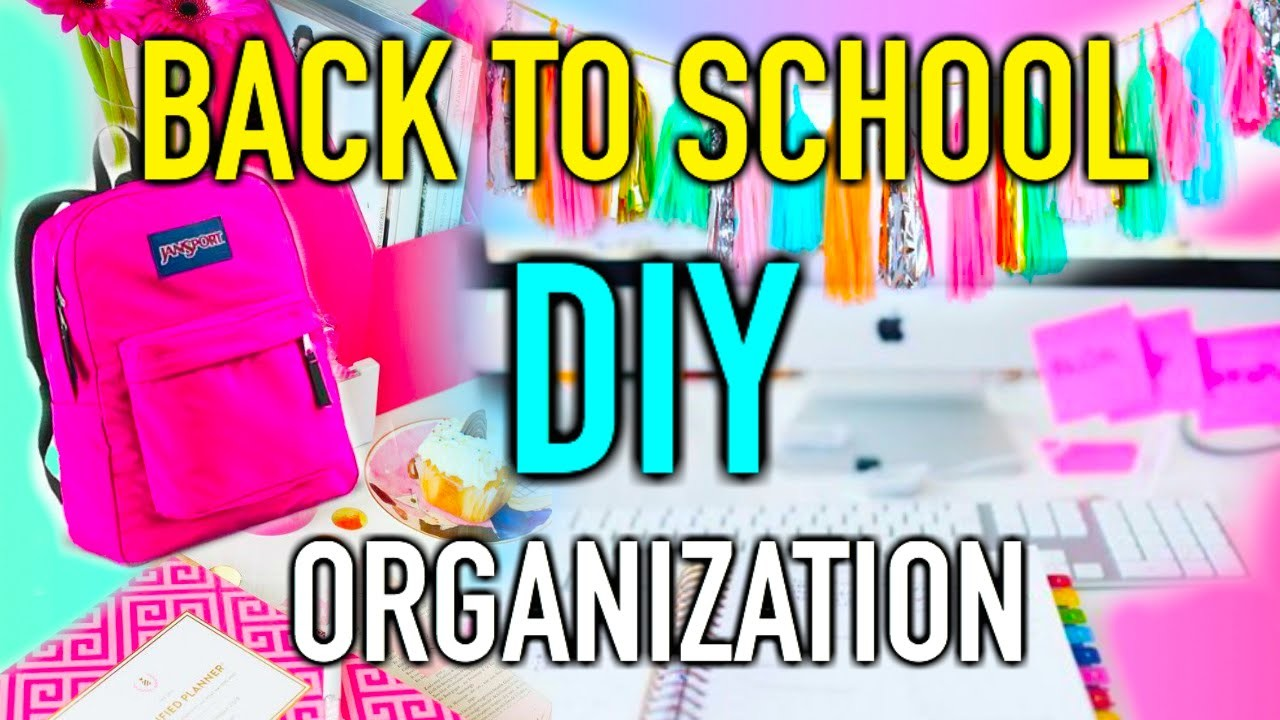 Back to School DIY organization & Supplies