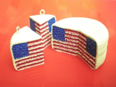 Clay Made Easy: American Flag Pattern Cake