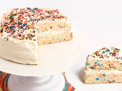 Confetti Birthday Cake Recipe - Laura Vitale - Laura in the Kitchen Episode 796