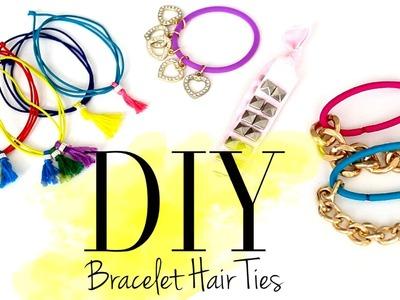 DIY Cute Bracelet Hair Ties by ANNEORSHINE