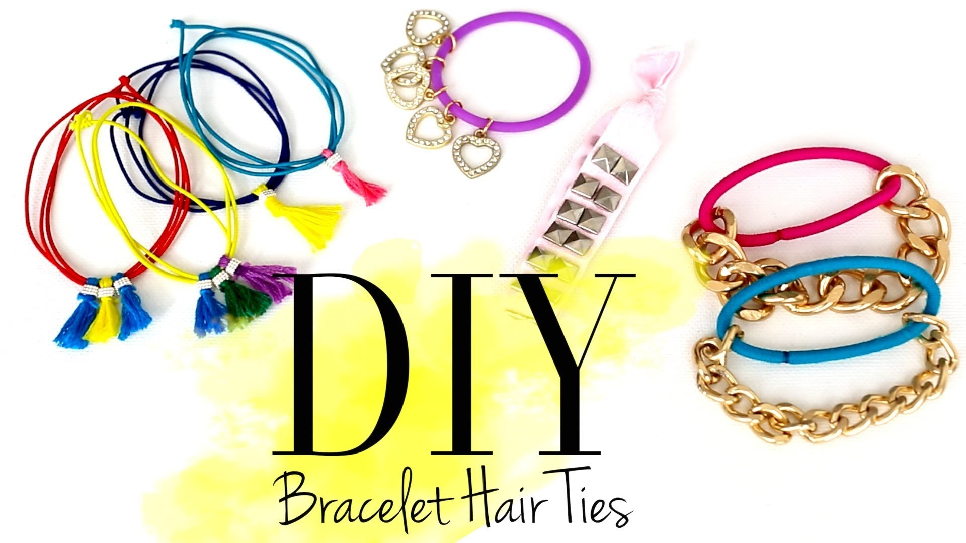DIY Cute Bracelet Hair Ties by ANNEORSHINE