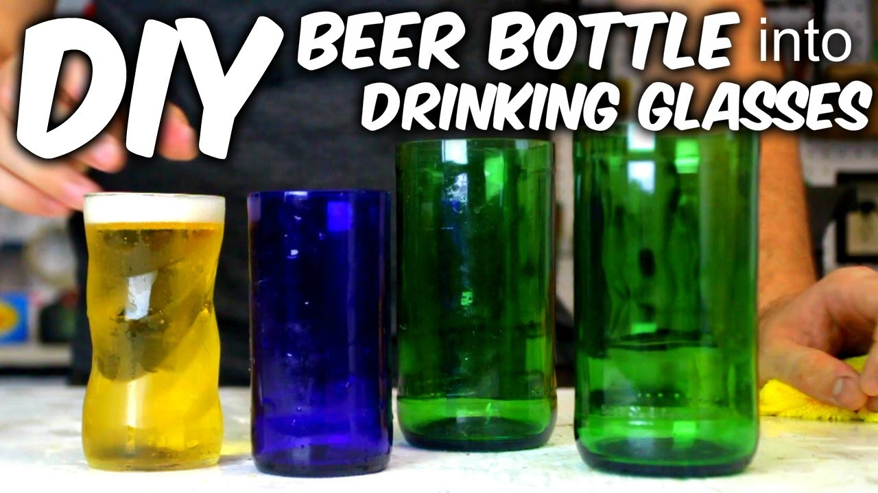 DIY Drinking Glasses from a Bottle