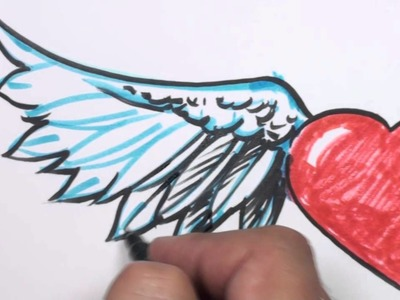 How to Draw a Heart with Wings - MAT