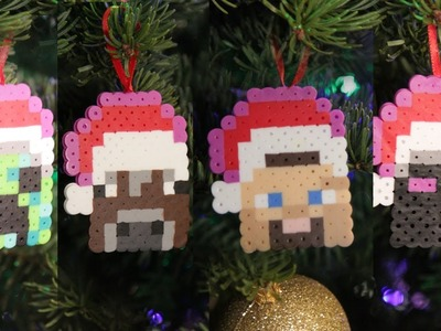 Minecraft 8 bit Christmas Ornaments - DIY GEEKY GOODIES