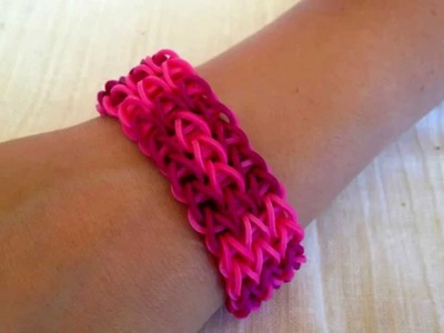 Rainbow Loom bracelet  -  Get inspired to make them yourself. Rubber bands bracelets.