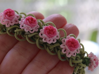 Rainbow Loom™  Ruffles and Roses Bracelet Tutorial