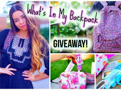 What's In My Backpack + School Supplies Giveaway!