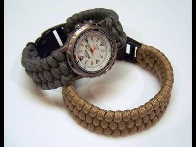 Woven paracord bracelet.watchband video slideshow