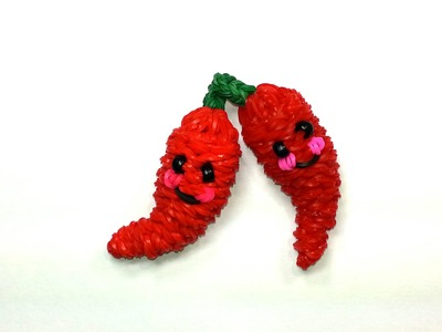 3-D Happy Chili Pepper Tutorial by feelinspiffy (Rainbow Loom)