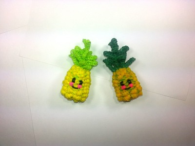 3-D Happy Pineapple Tutorial by feelinspiffy (Rainbow Loom)