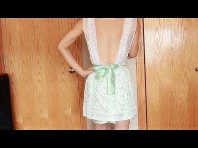"DIY: Curtain dress series part 3 of 4 ""lowback.backless style"""