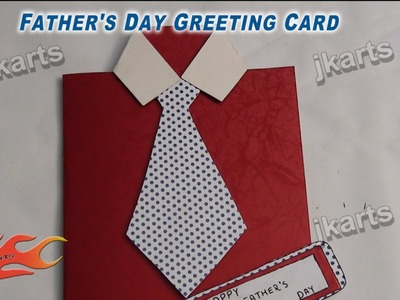 DIY Easy Shirt with Tie card for Father's Day - JK Arts 240