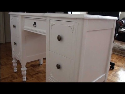 DIY Refurbishing Vanity Table