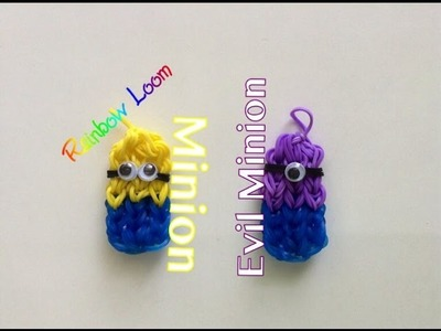 EASY Despicable Me Minion Charms Rainbow Loom