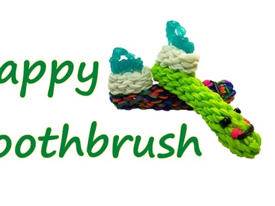 Happy Toothbrush Tutorial by feelinspiffy (Rainbow Loom)