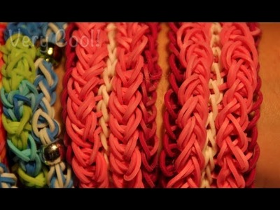 How to Make a pink CUFF rubber band bracelet with Cra Z Loom Rubber Band Maker