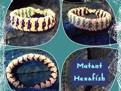 """Mutant Hexafish"" Rainbow Loom Bracelet.How To Tutorial"