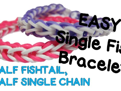 NEW EASY Single Fish Rainbow Loom Bracelet Tutorial