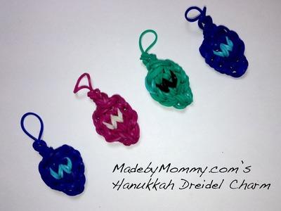 Rainbow Loom Band Dreidel Charm for Hanukkah