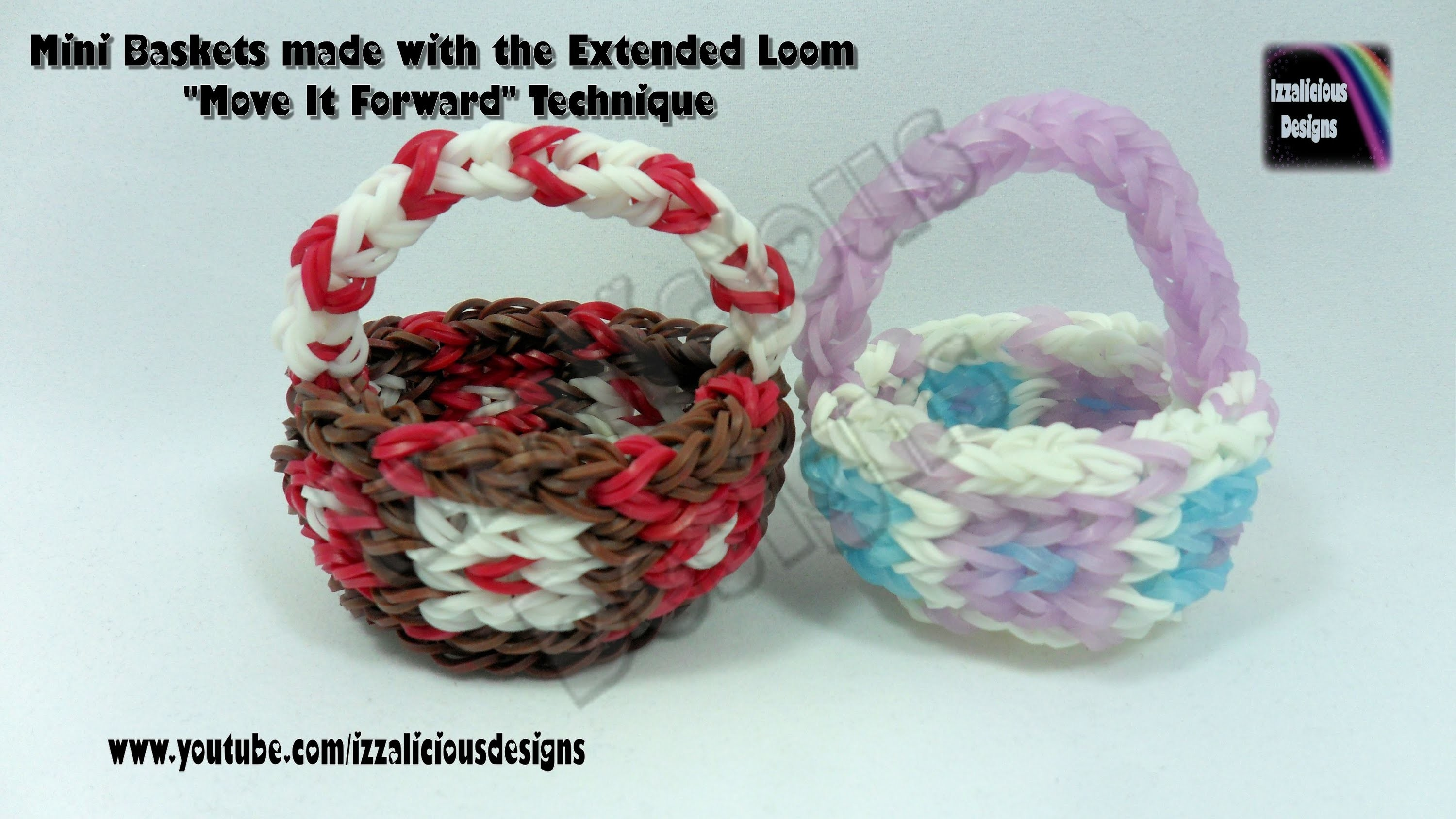 "Rainbow Loom Basket Using Extended Loom ""Move It Forward"" Technique"
