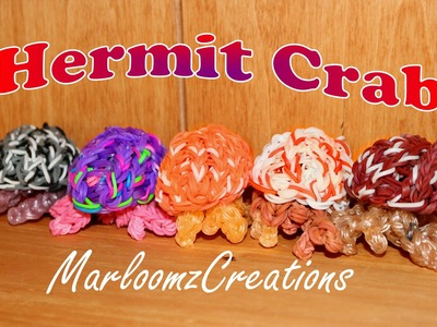 Rainbow Loom Hermit Crab.How To using Loom Bands