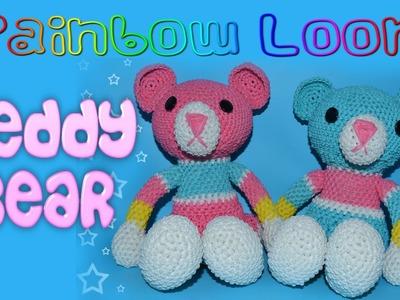 Rainbow Loom Stuffed Teddy Bear - Part 5.5 Torso, Joining Body Parts Together