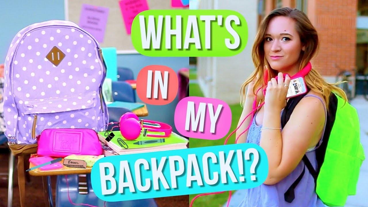 What's In My Backpack?! + DIY Backpack! Alisha Marie