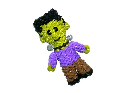 3-D Frankenstein (Frankenboy) Tutorial by feelinspiffy (Rainbow Loom)