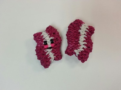 3-D Happy Bacon Tutorial by feelinspiffy (Rainbow Loom)