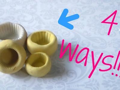 4 ways to make a cupcake base mold.