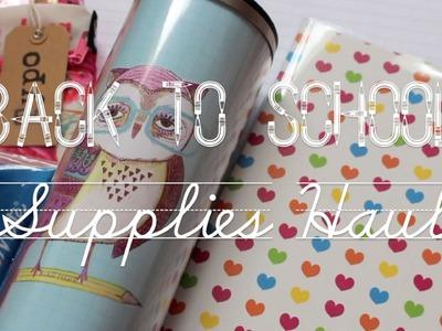 Back To School: Supplies Haul | 2014.