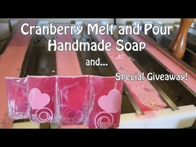 Cranberry Melt and Pour Handmade Soap