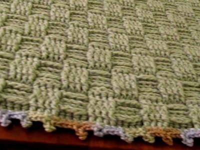Crochet basketweave baby blanket, basketweave baby pillow, crochet baby bag. poncho bear